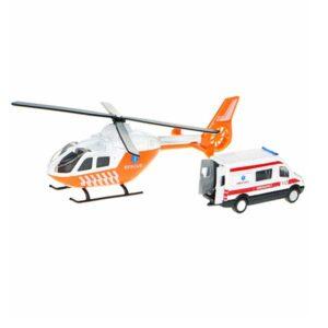 Helikopter og rednings ambulance