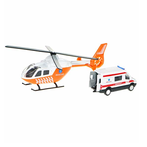 Helikopter og rednings ambulance