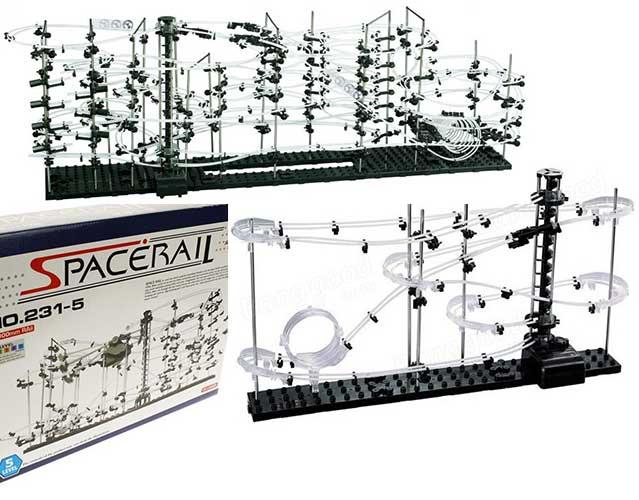 SpaceRail kuglebane level 5 med 32 meter skinner