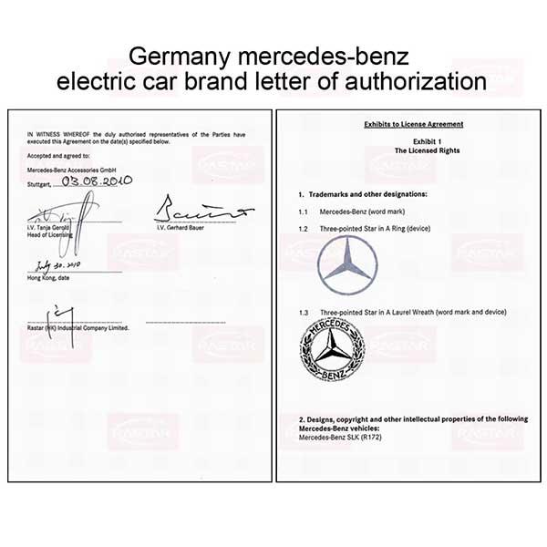 Licens gåvogn/mini bil Mercedes Benz SLK 55