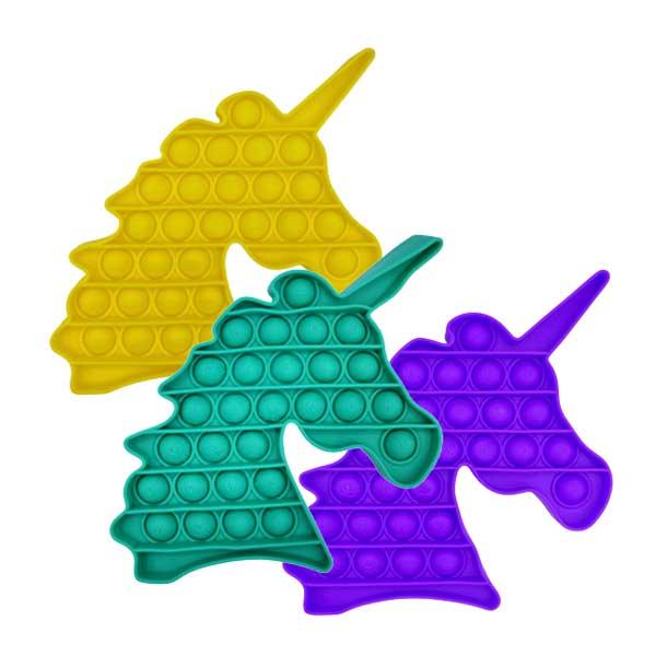 Pop-It unicorn boble plade